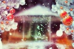 Беседка зимы фантазии Стоковое Фото