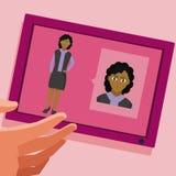Беседовать с женщиной бесплатная иллюстрация