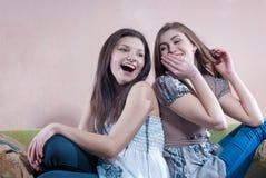 беседуя девушки потехи говоря время Стоковые Фото