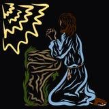Беседы спасителя к богу отец в саде Gethsemane стоковые фотографии rf