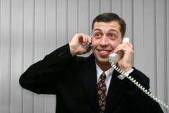 беседа бизнесмена Стоковые Изображения RF