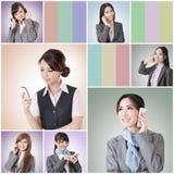 Беседа бизнес-леди стоковая фотография