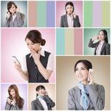 Беседа бизнес-леди стоковая фотография rf