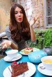 Беседа в кафе Стоковые Изображения RF
