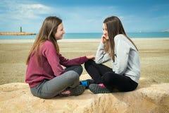 2 беседа девушки Стоковое Изображение