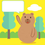 Беседа медведя иллюстрация штока