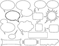 беседа пузырей коробок Стоковые Фото