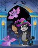 Беседка стены с темой 8 хеллоуина Стоковая Фотография