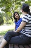 беседуя женщины Стоковое фото RF