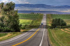 бесконечная дорога Стоковые Изображения RF