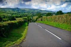 бесконечная ирландская дорога Стоковые Фото