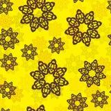 Бесконечная исламская этническая флористическая ретро картина предпосылки doodle в векторе Персидский, арабский, индийский, мотив Стоковые Фото