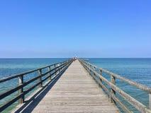 Бесконечная мола в море Zingst, Германию стоковая фотография