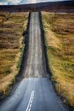Бесконечная дорога в Исландии Стоковая Фотография RF