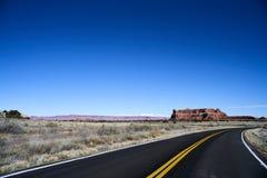 Бесконечная дорога в Юте, зиме, каньоне приземляется парк нации Стоковая Фотография RF