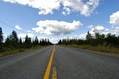 Бесконечная дорога Канада/ Стоковое Изображение