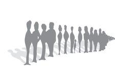 Бесконечная очередь людей Стоковое Изображение