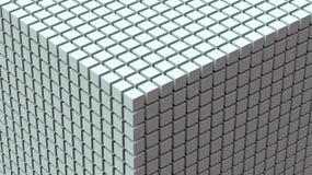 Бесконечная предпосылка кубов 3D Стоковая Фотография RF