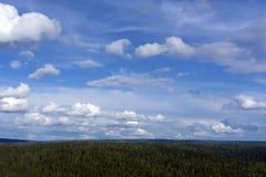 Бесконечное голубое небо стоковые изображения rf