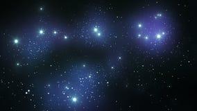 Бесконечные звезды, летая через космос Закрепленная петлей анимация HD 1080 иллюстрация вектора