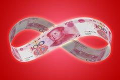 Бесконечные китайские юани Стоковое Изображение RF
