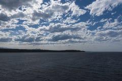 Бесконечные море и небо Стоковые Изображения RF