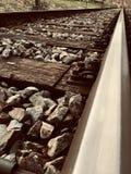 Бесконечные следы поезда стоковое фото rf