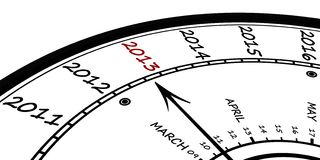 Бесконечные часы Стоковое фото RF