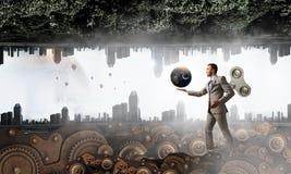 Бесконечные энергия и концепция hardwork Мультимедиа Стоковая Фотография
