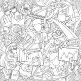 Бесконечный офис patern Бесплатная Иллюстрация