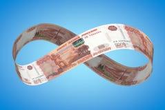 Бесконечный рубль Стоковая Фотография