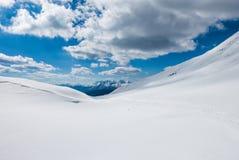 Бесконечный снежный наклон Стоковое фото RF
