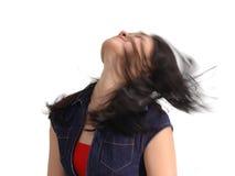 беспечальная девушка выражений стоковое фото rf