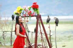 Беспечальная красота на Юньнань Erhai, здоровой живущей концепции, чисто счастье и свободе стоковые фото