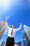 Беспечальный бизнесмен подготовляет вверх Стоковое Изображение RF