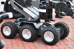 Беспилотные колеса военного транспортного средства Стоковые Фото