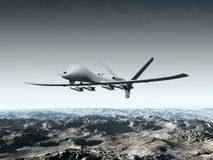 Беспилотный корабль воздуха боя Стоковое Изображение RF