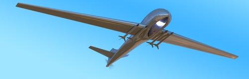 Беспилотный воздушный трутень корабля в полете Стоковое Изображение RF