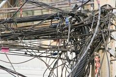 беспорядок кабеля стоковое фото