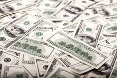 100 беспорядков долларовых банкнот - обратный Стоковые Фото