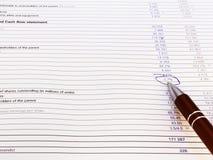 беспорядок вычисляет финансовохозяйственные номера Стоковое Изображение