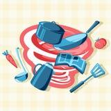 Беспорядок в кухне Стоковые Изображения RF