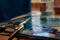 Беспорядок голубых красок стоковая фотография