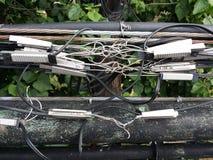Беспорядок кабелей стоковое изображение