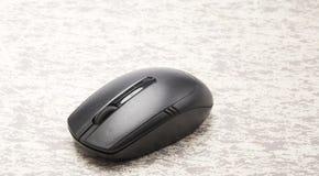 беспроволочная черная мышь компьютера Стоковое Изображение