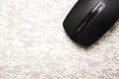 беспроволочная черная мышь компьютера Стоковое Изображение RF