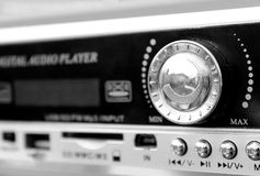 Беспроволочный звук mp3 цвета черноты портативного плейера стоковое изображение