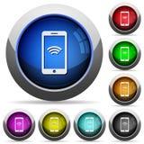 Беспроволочный комплект кнопки мобильного телефона Стоковые Фотографии RF