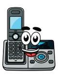 Беспроводной телефон шаржа иллюстрация вектора