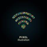 беспроволочная иллюстрация пиксела интернета Стоковое фото RF